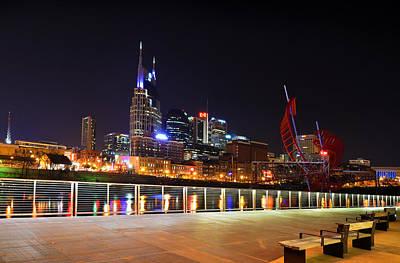 Nashville Photograph - Nashville Skyline by Kevin  Whitworth