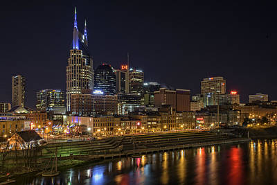 Cumberland River Photograph - Nashville Skyline by Rick Berk