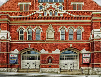Nashville's Historic Ryman Auditorium Print by Mountain Dreams