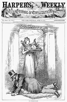 Prosperity Painting - Nast Spoils System, 1881 by Granger