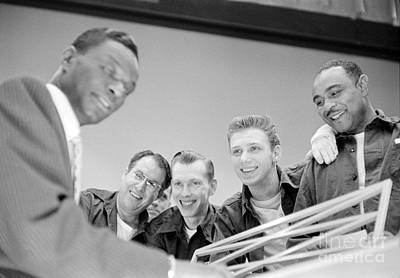 Nat King Cole Playing Piano For Some Fans 1954 Print by The Phillip Harrington Collection