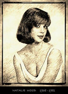 Usa Drawing - Natalie Wood by George Rossidis