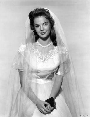 Natalie Wood In Wedding Dress Print by Retro Images Archive