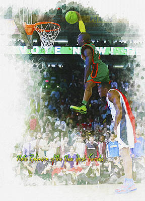 Nate Robinson Of The New York Knicks Original by Don Kuing