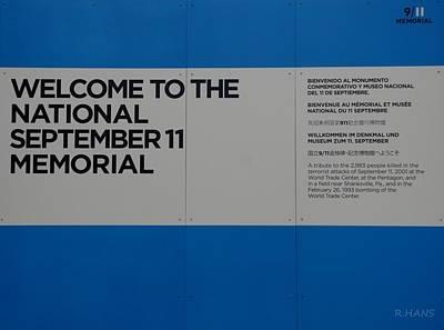 National 9/11 Memorial  Print by Rob Hans