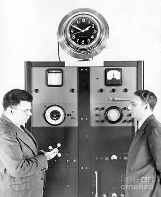National Bureau Of Standards Clock Print by Emilio Segre Visual Archives/american Institute Of Physics