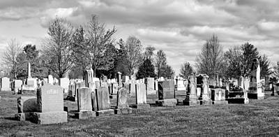 Civil War Battle Site Photograph - National Cemetery - Gettysburg Battlefield by Brendan Reals