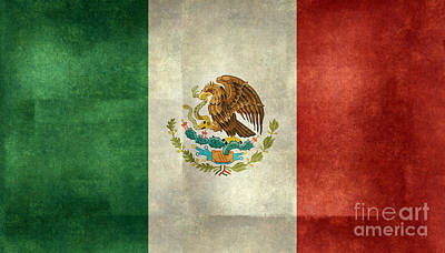 National Flag Of Mexico Print by Bruce Stanfield