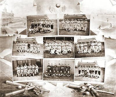 Baseball. Philadelphia Phillies Photograph - National League Baseball 1888 by Padre Art
