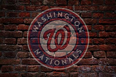 Washington D.c Digital Art - Nationals Baseball Graffiti On Brick  by Movie Poster Prints