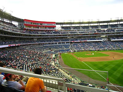 Baseball Photograph - Nationals Park - 01134 by DC Photographer