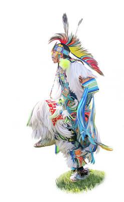 Native American Dancer Print by Ramona Murdock