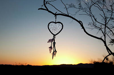 Property Released Photograph - Native American Heart Shaped by Angel Wynn