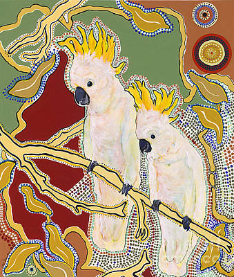 Cockatoo Painting - Native Aussies by Pat Saunders-White