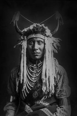 1900 Photograph - Native Man Circa 1900 by Aged Pixel