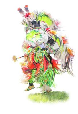 Native Pow Wow Dance Print by Ramona Murdock