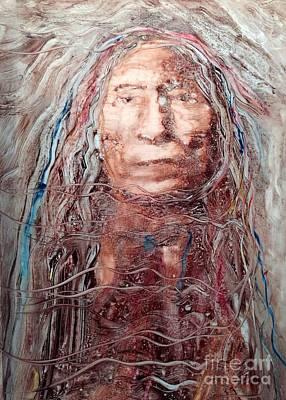 Root Of Mixed Media - Native Roots by FeatherStone Studio Julie A Miller