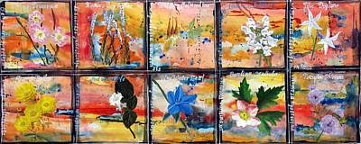 Dillon Painting - native Texas wildflowers B by Michael Dillon