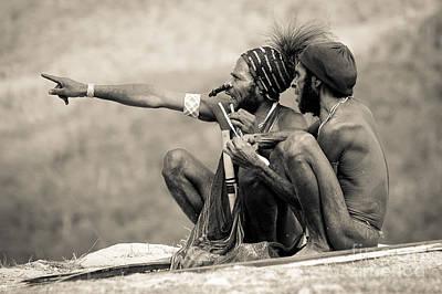 Native Tribesman Papua Indonesia Print by Glen Eitemiller