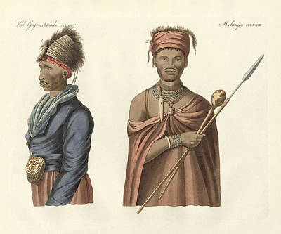 South Africa Drawing - Natives Of South Africa by Splendid Art Prints