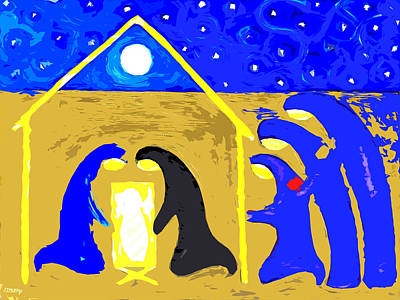 Child Jesus Mixed Media - Nativity 2 by Patrick J Murphy