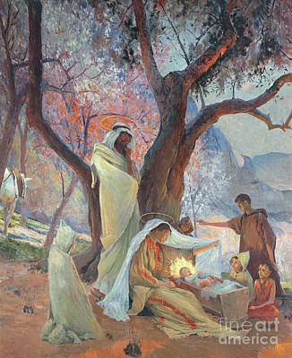 Mural Painting - Nativity by Frederic Montenard