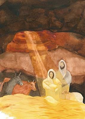 Nativity Painting - Nativity by John Meng-Frecker