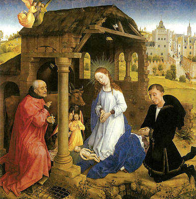 Nativity  Print by Rogier Van Der Weyden