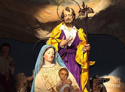 Holy Family Photograph - Christmas Nativity Scene by Stefano Senise