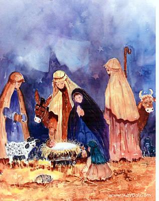 Nativity Print by Suzy Pal Powell