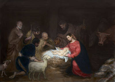Nativity Digital Art - Nativity by Walter Lynn Mosley