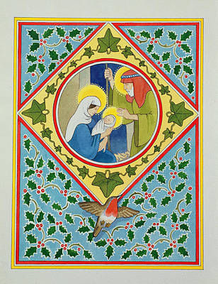 Holy Family Photograph - Nativity Wc On Paper by Lavinia Hamer