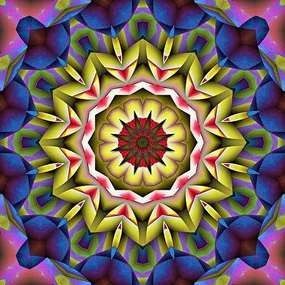 Kaleidoscope Digital Art - Natural Attributes 04 Square by Wendy J St Christopher