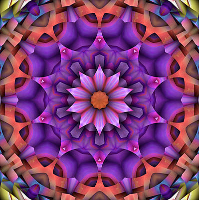Kaleidoscope Digital Art - Natural Attributes 15 Square by Wendy J St Christopher