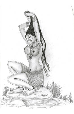 Ling Painting - Bath In The Nature by Art Tantra