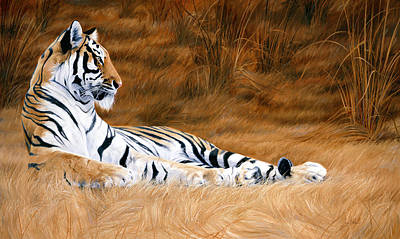 Bengal Tiger Painting - Natural Beauty by Lucie Bilodeau