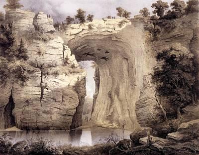 Rockbridge Drawing - Natural Bridge, Rockbridge County by Edward Beyer