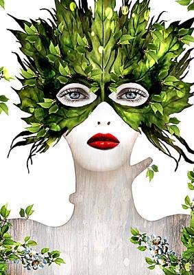 Natural Women Print by Yosi Cupano