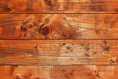 Design Photograph - Natural Wood Board Background  by Michal Bednarek