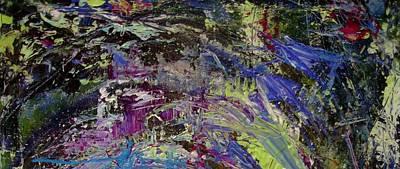 Greens Painting - Nature Dance by Karen Lillard