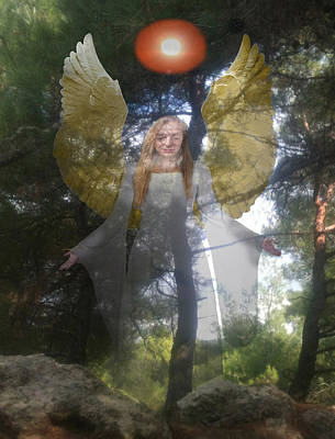 Rock The World Digital Art - Nature's Angel by Eric Kempson
