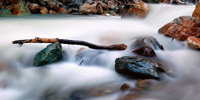 Strong America Photograph - Natures Balance - White Water Rapids by Steven Milner