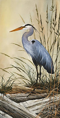 Heron Painting - Natures Grace by James Williamson