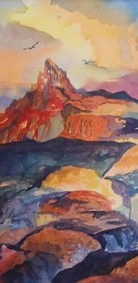 Natures Palette Print by Ellen Levinson