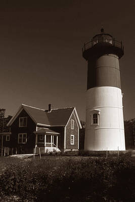 Of Lighthouses Photograph - Nauset Lighthouse by Skip Willits