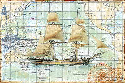 Nautical Journey-b Original by Jean Plout