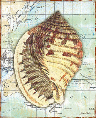 Nautical Journey-c Print by Jean Plout