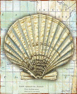 Nautical Journey-f Print by Jean Plout