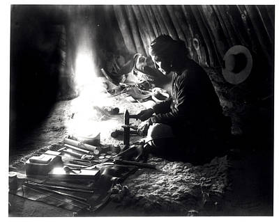 Metalwork Photograph - Navaho Silversmith by William J Carpenter
