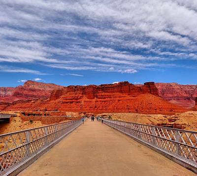Little Red River Photograph - Navajo Bridge by Dan Sproul
